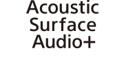 Логотип технології Acoustic Surface Audio+