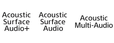 Логотип технології Acoustic Surface Audio